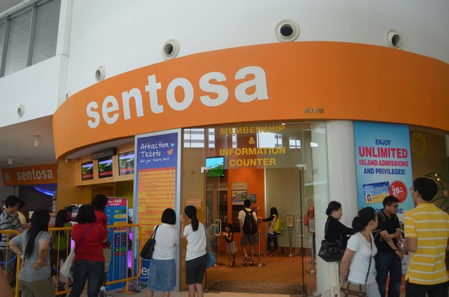 Sentosa Ticketing Booth